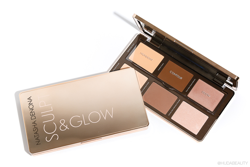 Natasha Denona Sculpt & Glow Face Highlighting & Contour Glow Palette review huda beauty