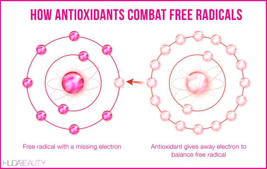 how the human body fights free radicals with antioxidants