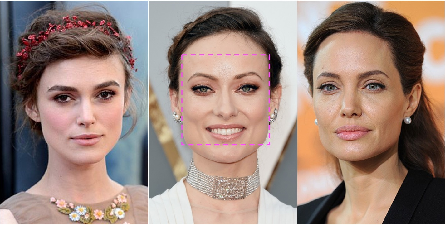 square-face celebs