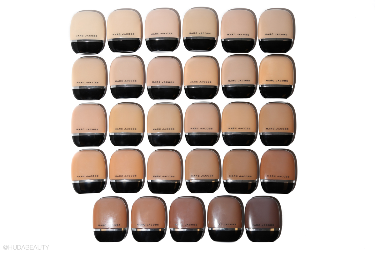 marc jacobs shameless foundation shade range