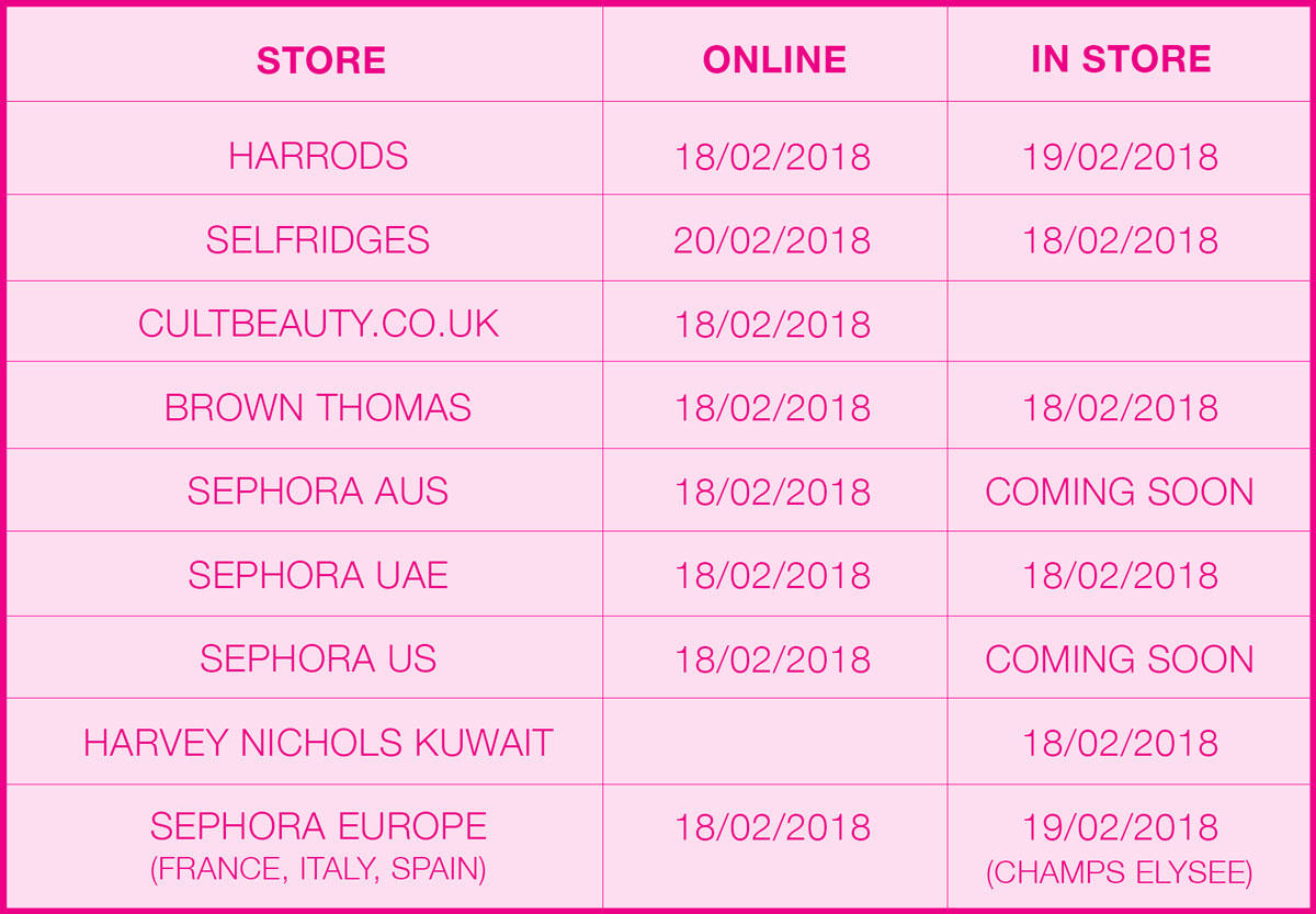 huda beauty bronze sands Launch-dates