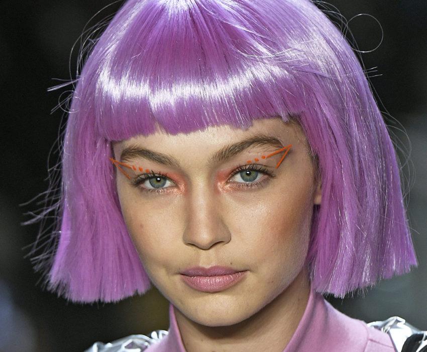 gigi neon eye makeup