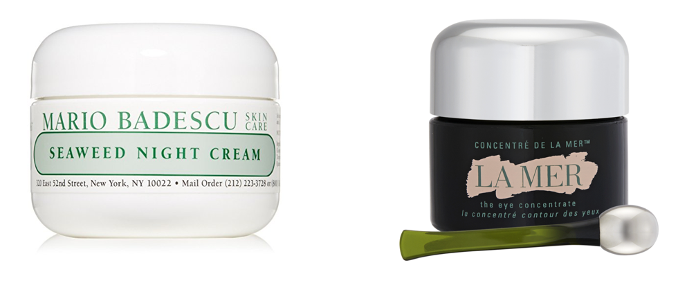 Drugstore vs. luxury seaweed eye cream