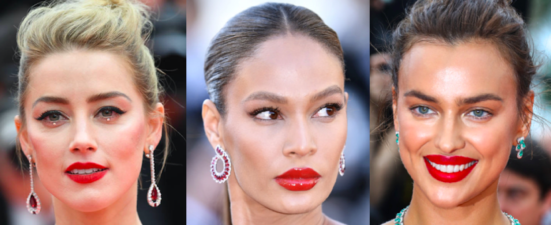 Cannes red lip
