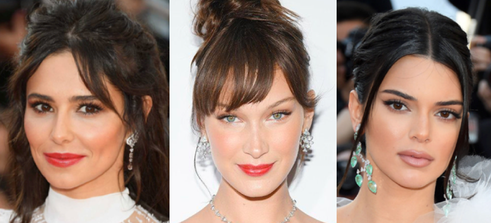 Cannes Red carpet sweeping bangs