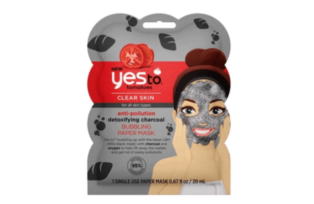 Yes To Tomatoes Anti Pollution Detoxifying Charcoal Bubbling Paper Mask