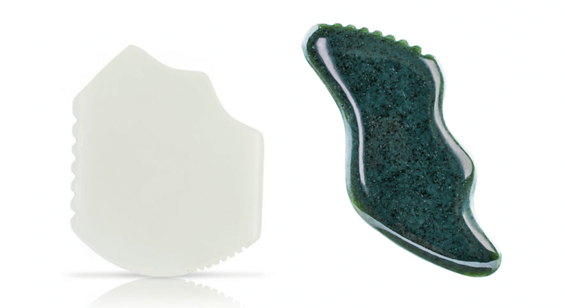 Jade gua sha stones