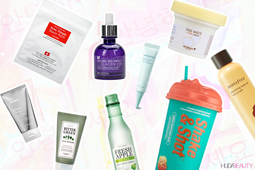 k beauty products collage