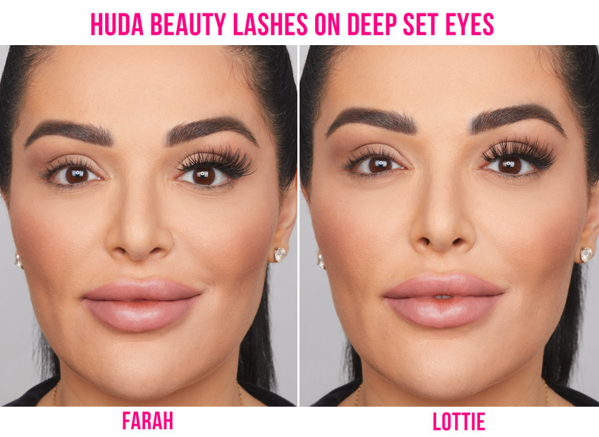False Lashes for Deep-Set Eyes