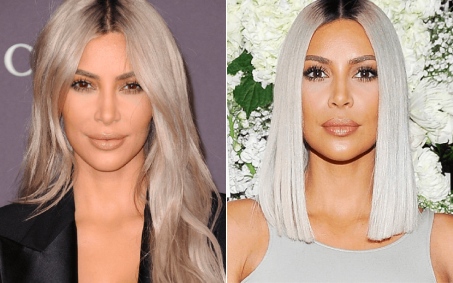 Kim K hair color
