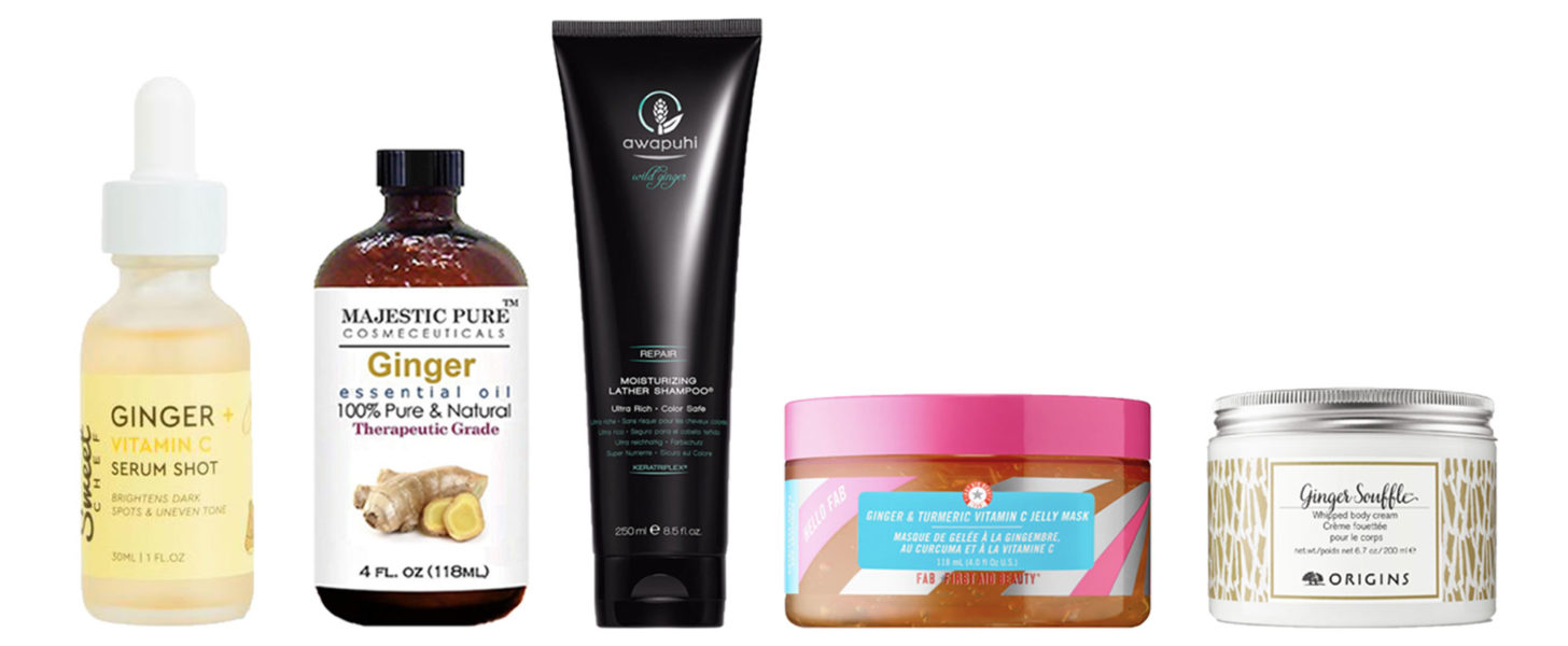ginger skincare products