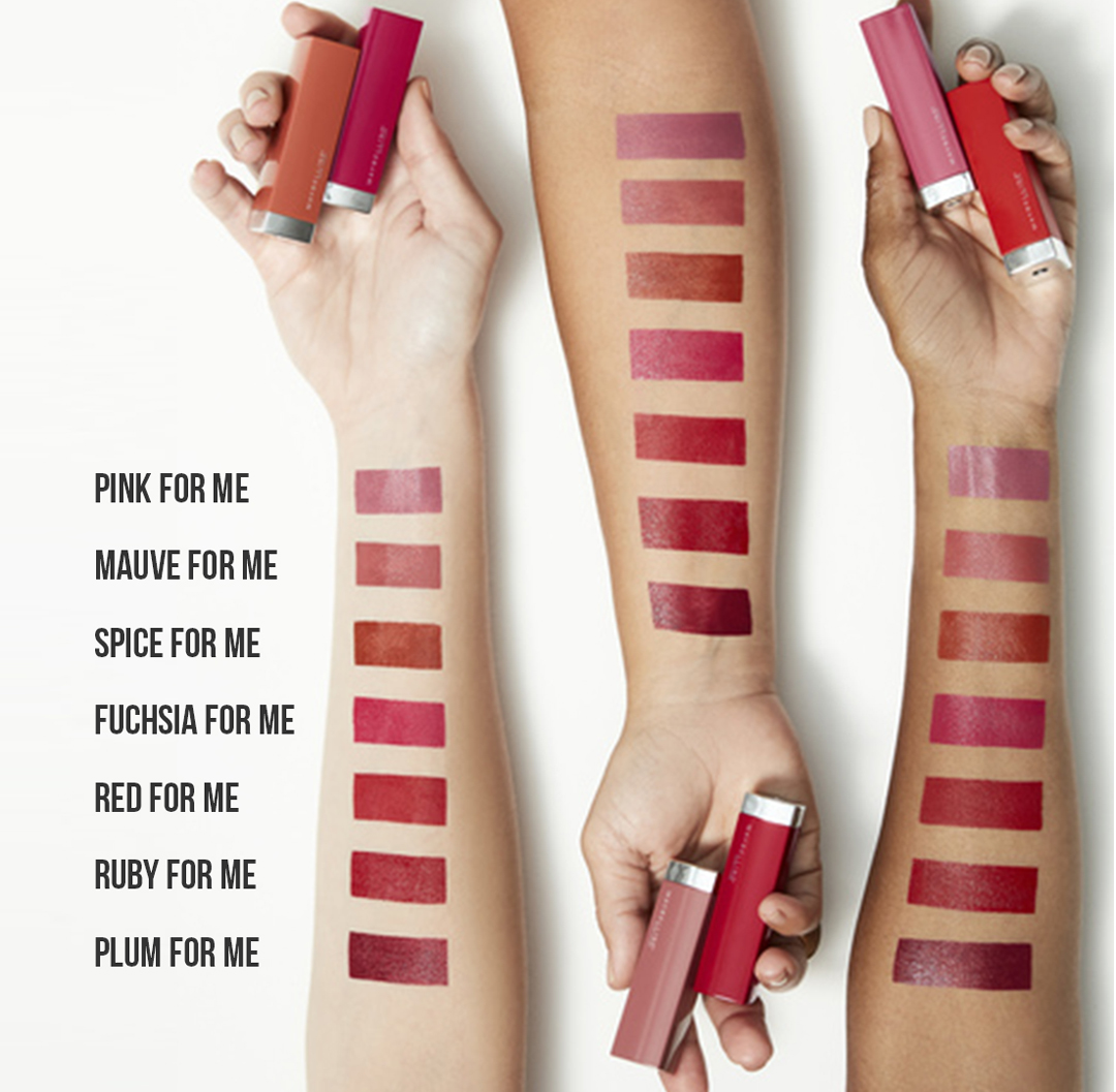 Maybelline Made For All Lipstick review swatches