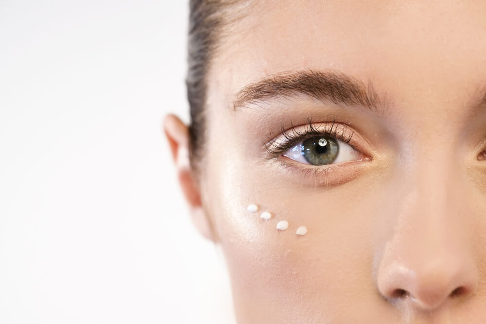 Retinol under your eyes