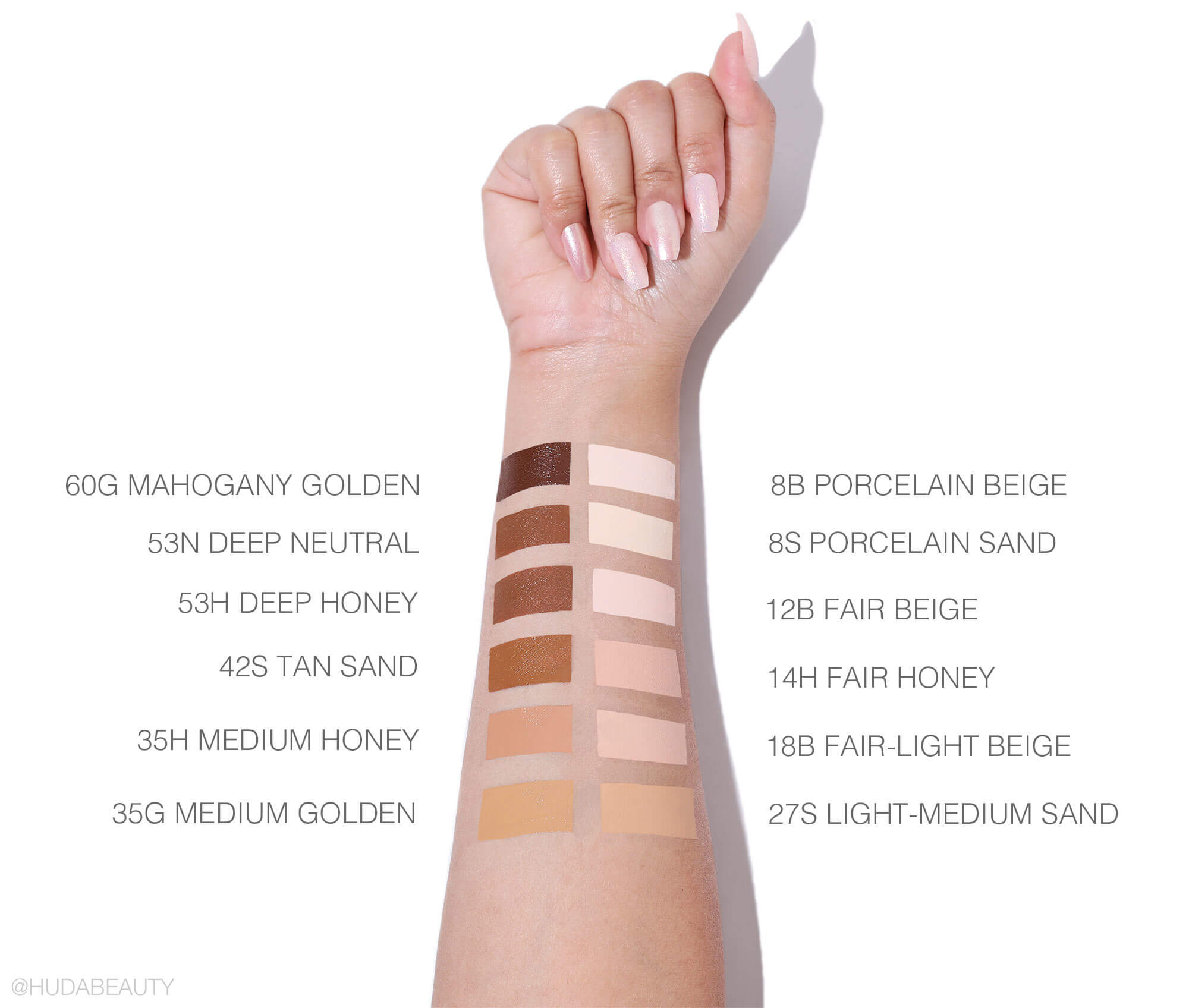 Tarte Shape Tape Foundation swatches