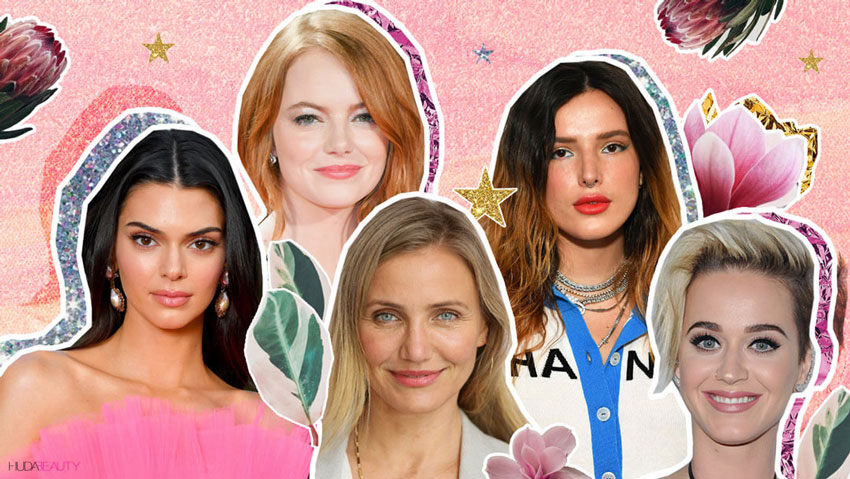 Celebs with acne