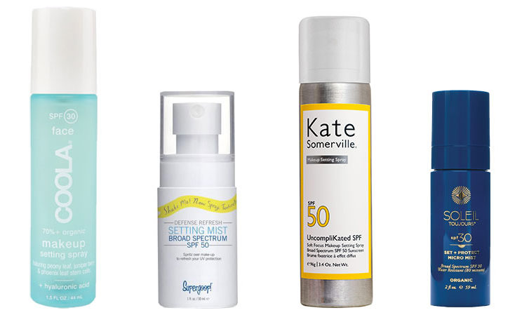 Setting spray with SPF