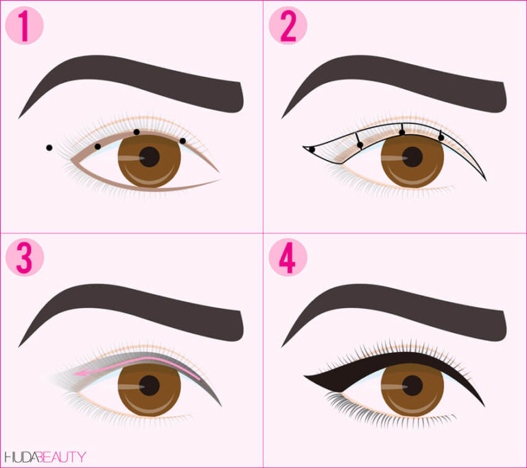 how to apply eyeliner with pictures