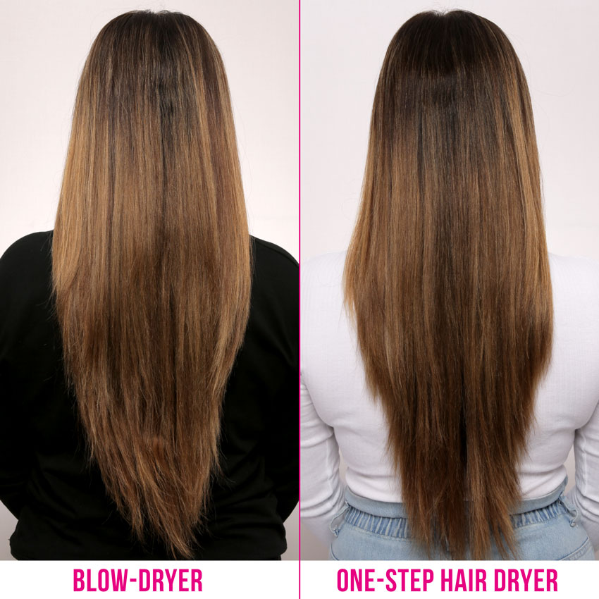before and after Revlon One-Step Hair Dryer & Volumizer