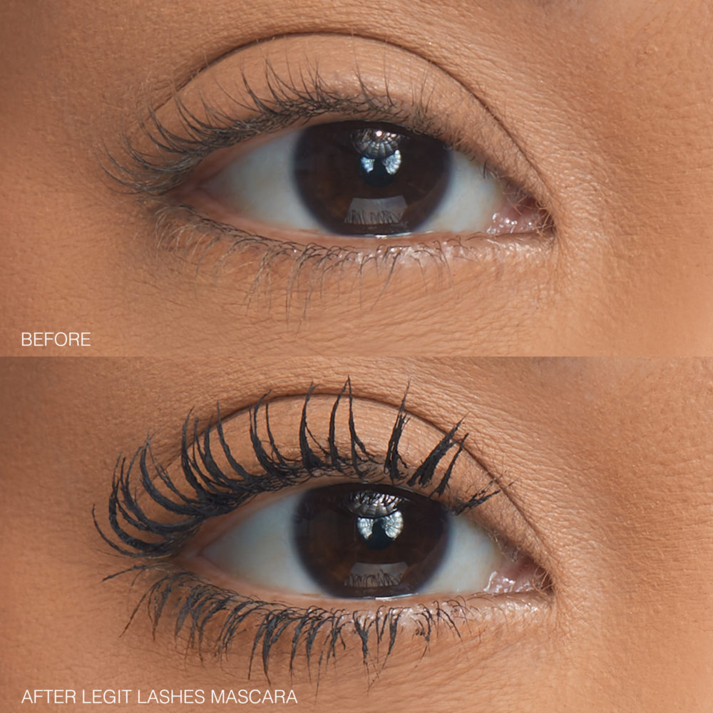 Huda Beauty LEGIT Lashes before and after